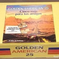 Cajas de Cerillas: GOLDEN AMERICAN 25. LOTE DE 100 CAJETILLAS DE CERILLAS EN CAJA. NUEVO!!. Lote 107761435