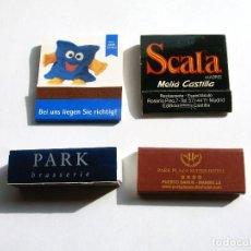 Cajas de Cerillas: LOTE DE 4 CAJAS DE CERILLAS. Lote 108418711