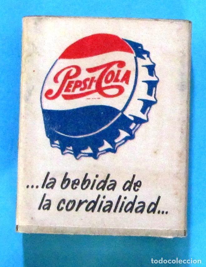 CAJA DE CERILLAS. PUBLICIDAD PEPSI COLA. FOSFORERA ESPAÑOLA (Coleccionismo - Objetos para Fumar - Cajas de Cerillas)