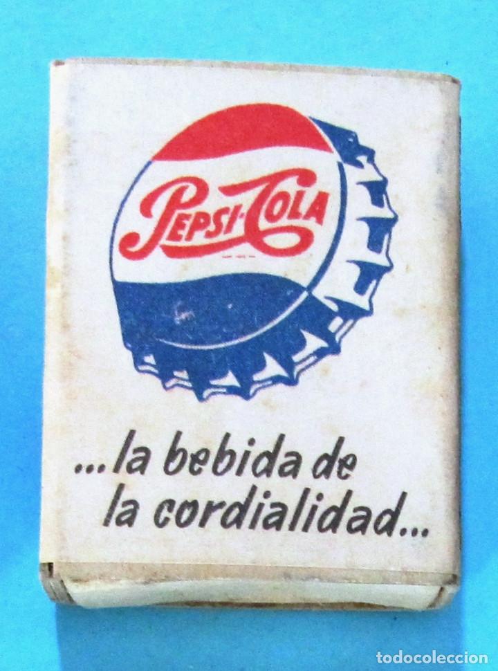 Cajas de Cerillas: CAJA DE CERILLAS. PUBLICIDAD PEPSI COLA. FOSFORERA ESPAÑOLA - Foto 2 - 109013879