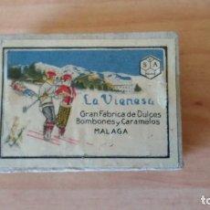 Cajas de Cerillas: ANTIGUA CAJA CERILLAS DE LA COMPAÑÍA ARRENDATARIA DE FÓSFOROS S.A., PUBLICIDAD LA VIENESA. Lote 109187015
