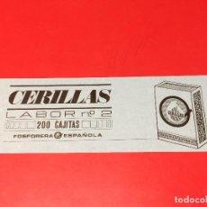 Cajas de Cerillas: ETIQUETA PARA CAJON EMBALAJE 200 CAJITAS CERILLAS LABOR Nº 2 . FOSFORERA ESPAÑOLA. Lote 109314027