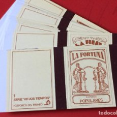 Cajas de Cerillas: VIEJOS TIEMPOS FONDO CREMA. 12 ELEMENTOS . 1979. COMPLETA. FOSFOROS DEL PIRINEO. Lote 109822583