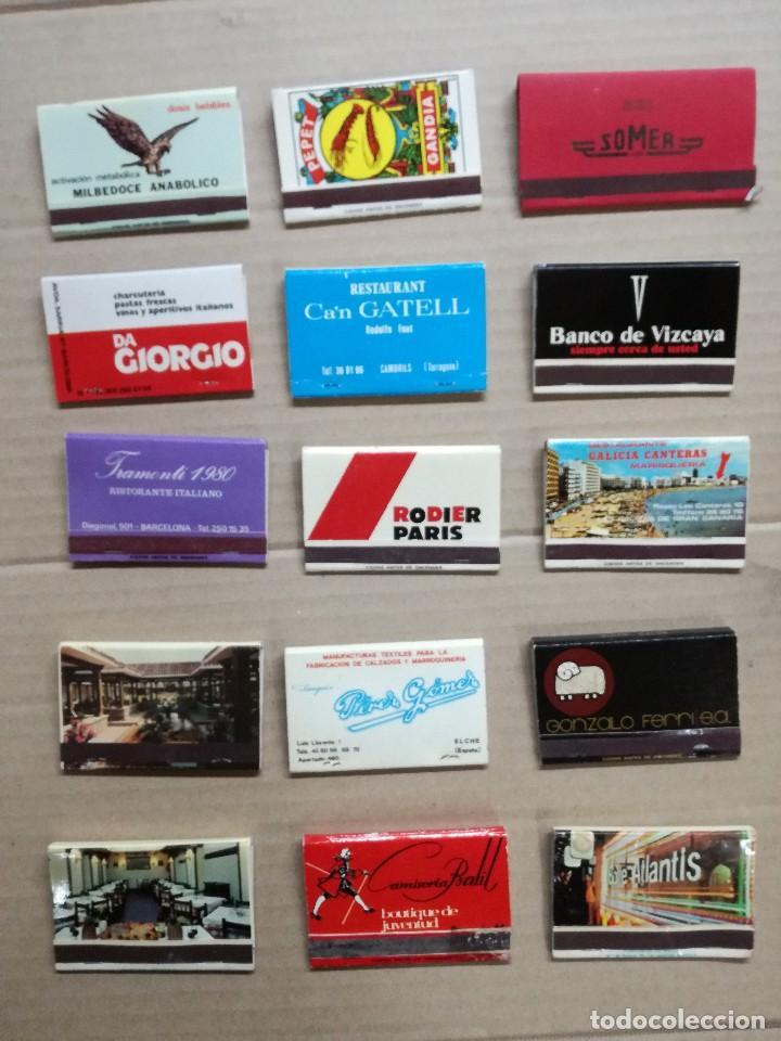 15 CAJAS DE CERILLAS LLENAS.DIFERENTES TEMAS (Coleccionismo - Objetos para Fumar - Cajas de Cerillas)