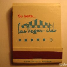 Caja cerillas discoteca las vegas club barcelona