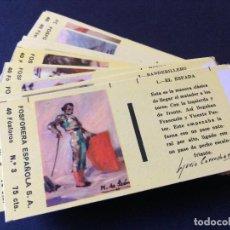 Cajas de Cerillas: TAUROMAQUIA 40 FOSFOROS Nº 3 . 75 CTS . 30 ELEMENTOS. COMPLETA. FOSFORERA ESPAÑOLA.1959. Lote 110797295