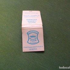 Cajas de Cerillas: ANTIGUA CAJA DE CERILLAS -DISCOTECA ROYAL CLUB -LA DE LA FOTO VER TODOS MIS LOTES DE CERILLAS. Lote 111401919