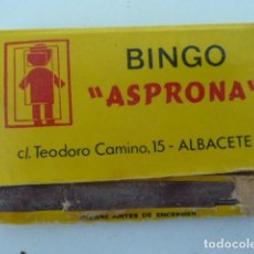 Cajas de Cerillas: BINGO ASPRONA (ALBACETE) CARTERITA CAJA DE CERILLAS . Lote 111725691