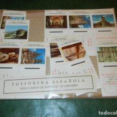 Cajas de Cerillas: JUEGO 20 CARTONES SERIE EL CAMINO DE SANTIAGO 1978 FOSFORERA ESPAÑOLA. Lote 112263747