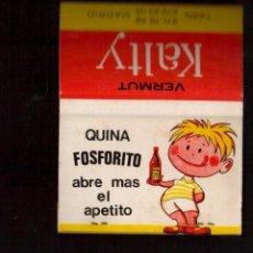 Boîtes d'Allumettes: ANTIGUA CAJA DE CERILLAS -QUINA FOSFORITO - VER LAS FOTOS QUE NO TE FALTE EN TU COLECCION. Lote 112411559