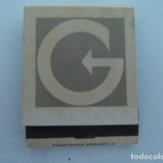 Cajas de Cerillas: CENTRO GESTOR G (BARCELONA) CARTERITA CAJA DE CERILLAS. Lote 112819255