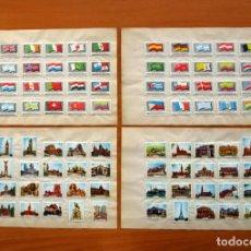 Cajas de Cerillas: BANDERAS Y MONUMENTOS - COMPLETA, 40 CAJAS DE CERILLAS RECORTADAS, FOSFORERA ESPAÑOLA 1959. Lote 113042107