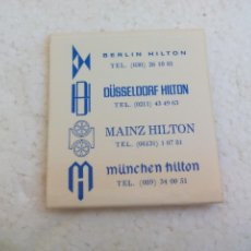 Cajas de Cerillas: HOTEL HILTON INTERNATIONAL. CAJA DE CERILLAS MATCHBOX ALLUMETTES MATCHES. Lote 113208723