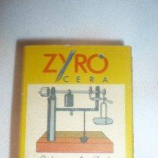 Cajas de Cerillas: CAJA CERILLAS ZYRO - LA BALANZA DE SUELO - FOSFORERA ESPAÑOLA. Lote 113274783