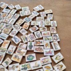 Cajas de Cerillas: GRAN LOTE DE CAJAS DE CERILLAS VACÍAS, MÁS DE 180. DECORADAS CON DIBUJOS DE CERÁMICA ETC.. VER FOTOS. Lote 113336666