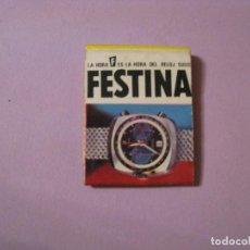 Cajas de Cerillas: CAJA DE CERILLAS. RELOJES FESTINA.. Lote 113363927