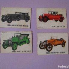 Cajas de Cerillas: 4 CAJAS DE CERILLAS DE SERIE COCHES ANTIGUOS. RECORTADAS.. Lote 113518039