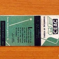 Cajas de Cerillas: CARTERITA DE CERILLAS - CEAC - CENTRO DE ESTUDIOS - FOSFORERA ESPAÑOLA. Lote 113570011