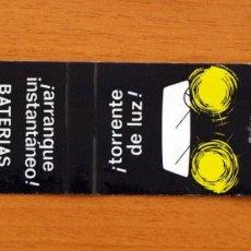Cajas de Cerillas: CARTERITA DE CERILLAS - BATERIAS TUDOR - FOSFORERA ESPAÑOLA. Lote 113573391