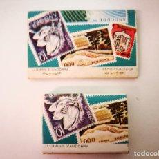Cajas de Cerillas: CERILLAS ANDORRA,2 CAJAS. Lote 114206715