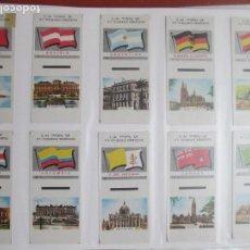 Cajas de Cerillas: LOTE DE 40 CAJAS DE CERILLAS, BANDERAS Y VISTAS PAISES, VER FOTOS ADICIONALES. Lote 114817351