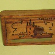 Cajas de Cerillas: CAJA DE CERILLAS DE MADERA - MALLORCA VINTAGE. Lote 114874655