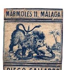 Cajas de Cerillas: CAJA ANTIGUA DE CERILLAS DIEGO GALLARDO. MALAGA. Lote 114972592