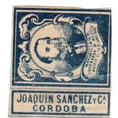Cajas de Cerillas: CAJA ANTIGUA DE CERILLAS JOAQUIN SANCHEZ. CORDOBA. Lote 114972774