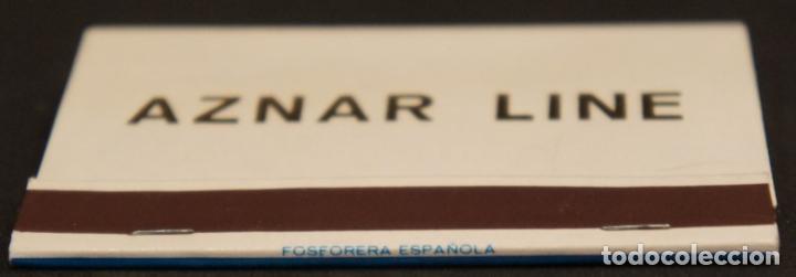 Cajas de Cerillas: Caja de cerillas publicidad Naviera Aznar Aznar Line. Fosforera Española. Años 70 - Foto 3 - 115215591