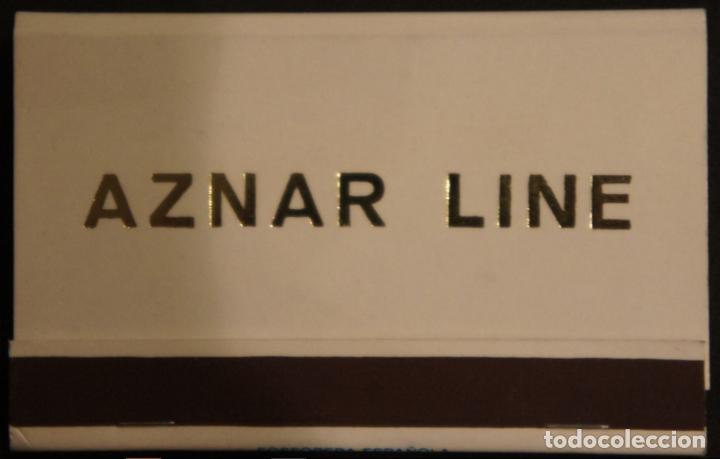 Cajas de Cerillas: Caja de cerillas publicidad Naviera Aznar Aznar Line. Fosforera Española. Años 70 - Foto 4 - 115215591