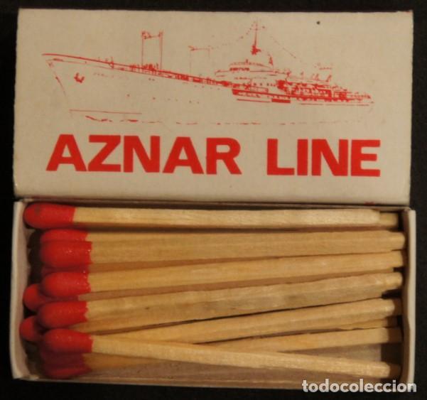 Cajas de Cerillas: Caja de cerillas publicidad Naviera Aznar. Aznar Line. Años 70. - Foto 2 - 115217139