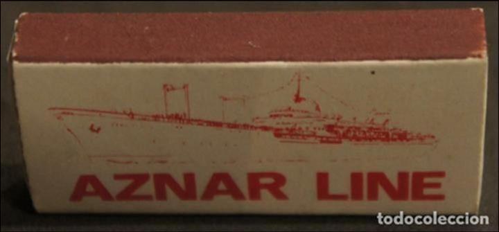 Cajas de Cerillas: Caja de cerillas publicidad Naviera Aznar. Aznar Line. Años 70. - Foto 3 - 115217139