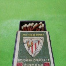 Cajas de Cerillas: ANTIGUA CAJA CERILLAS ATLETICO DE BILBAO. Lote 115374143