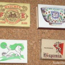 Cajas de Cerillas: CAJAS DE CERILLAS RARAS LOTE DE 4 - TODAS CON SUS CERILLAS- VER FOTOS -L 4. Lote 115883227
