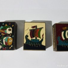Cajas de Cerillas: 3 CERILLEROS CLOISONE, TAL CUAL SE VEN, CON SUS CERILLAS.... Lote 115963799