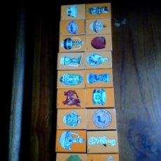 Cajas de Cerillas: SERIE COMPLETA 20 CAJAS CERILLAS CENTERAS CERAMICA ESP NARANJA. Lote 116064639