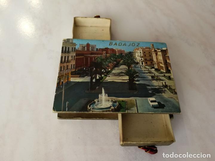 DOBLE CAJA CERILLAS DECORATIVA, VISTAS TURÍSTICAS DE BADAJOZ, AÑOS 60 (VER FOTOS) (Coleccionismo - Objetos para Fumar - Cajas de Cerillas)