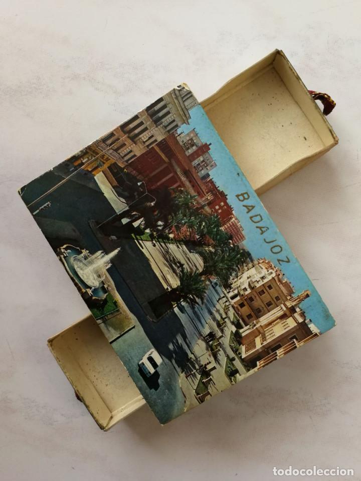 Cajas de Cerillas: DOBLE CAJA CERILLAS DECORATIVA, VISTAS TURÍSTICAS DE BADAJOZ, AÑOS 60 (VER FOTOS) - Foto 2 - 117029127