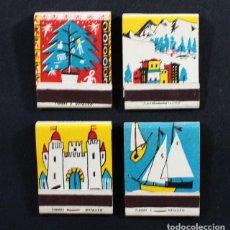 Cajas de Cerillas: LOTE 4 CAJAS DE CERILLAS NUEVAS SIN USAR CHAMPAÑA GOMÁ CRIADO EN CAVA, MUY RARAS, CHAMPAN . Lote 118008247