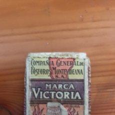 Cajas de Cerillas: ENVOLTORIO CAJA DE CERILLAS - MARCA VICTORIA - COMPAÑIA GENERAL FOSFOROS MONTEVIDEANA. Lote 118050731