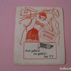 Cajas de Cerillas: CAJA DE CERILLAS GRANDES. PUBLICIDAD DE TT, THEODOR TRIEBENBACHER. ALEMANIA. USADAS.. Lote 118209403