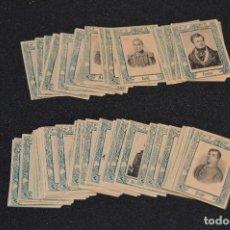 Cajas de Cerillas: VINTAGE - 74 FOTOTIPIAS - CROMOS CAJAS CERILLAS - SERIE 31 - COMPLETA A FALTA Nº37 - PRINCIPIOS 1900. Lote 118945047