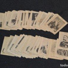 Cajas de Cerillas: VINTAGE - 75 FOTOTIPIAS - CROMOS CAJAS CERILLAS - SERIE 32, MANDATARIOS - COMPLETA - PRINCIPIOS 1900. Lote 118945703