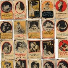 Cajas de Cerillas: INTERIORES CAJAS DE CERILLAS GREMIO CON PUBLICIDAD GAL SERIES MUY RARAS. Lote 119430111