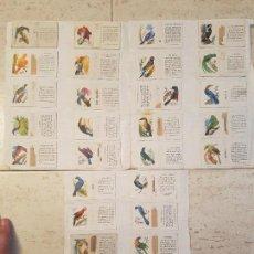 Cajas de Cerillas - 30 CROMOS FOSFORERA ESPAÑOLA CAJAS DE CERILLAS FOSFORO AVES PAJAROS FAUNA AÑOS 50 - 119556727