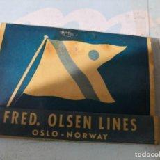 Cajas de Cerillas: CERILLAS FRED OLSEN LINES. OSLO. NORWAY, OSLO. Lote 119728903