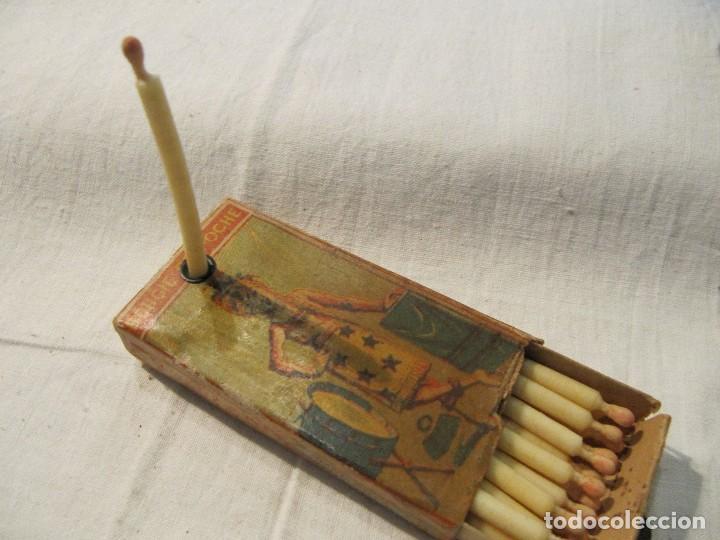 MUY ANTIGUA CAJA DE CERILLAS - BOUGIE DE POCHE ROCHE & CIE - GRAND PRIX PARIS 1900 - MADE IN BELGIUM (Coleccionismo - Objetos para Fumar - Cajas de Cerillas)