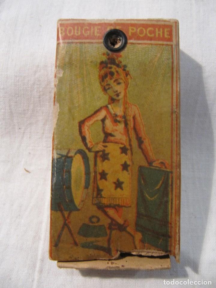 Cajas de Cerillas: MUY ANTIGUA CAJA DE CERILLAS - BOUGIE DE POCHE ROCHE & CIE - GRAND PRIX PARIS 1900 - MADE IN BELGIUM - Foto 2 - 120200763