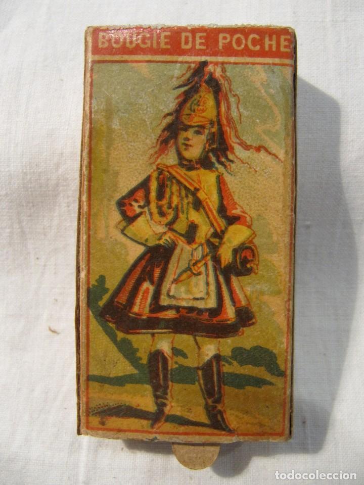 Cajas de Cerillas: MUY ANTIGUA CAJA DE CERILLAS - BOUGIE DE POCHE ROCHE & CIE - GRAND PRIX PARIS 1900 - MADE IN BELGIUM - Foto 3 - 120200763