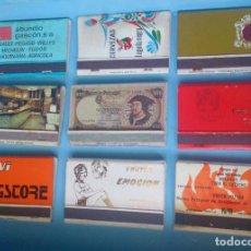 Cajas de Cerillas: LOTE 9 CAJAS DE CERILLAS VINTAGE FRUTAS EMOCIÓN . Lote 121235751